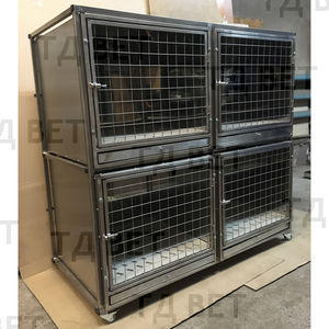 cat veterinary cage / for dogs / 4-compartment / portable