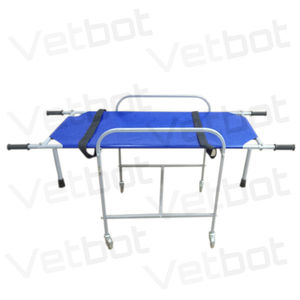 patient transfer stretcher trolley / manual / self-loading / veterinary