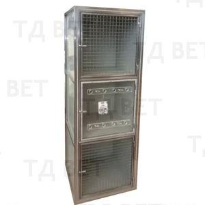 3-compartment veterinary cage