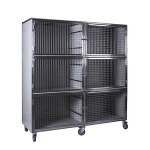 6-compartment veterinary cage