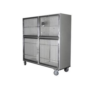 4-compartment veterinary cage