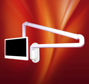 wall-mounted monitor support arm / medical / dental / surgical
