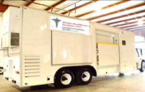 PET/CT scan mobile radiology room