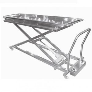 transport stretcher trolley / electric / height-adjustable / mortuary