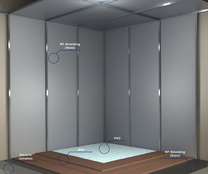 Faraday cage, RF-shielded cage room - All medical device