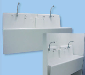 3-station surgical trough