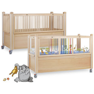 pediatric bed / homecare / mechanical / height-adjustable
