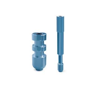 straight transfer abutment / short / titanium / conical
