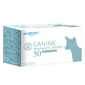 heartworm test kit / for canines / Dirofilaria / serum