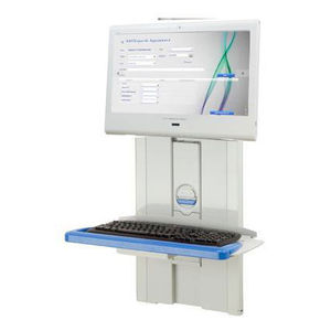 medical computer workstation / wall-mounted / height-adjustable