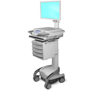battery-powered computer cart / height-adjustable / with drawer