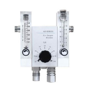 oxygen gas blender / air / with dual flow meter tubes