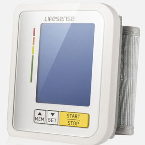 general medicine blood pressure monitor / automatic / wrist / with rechargeable battery