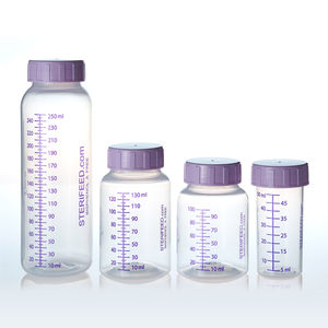 polypropylene baby bottle / single-use