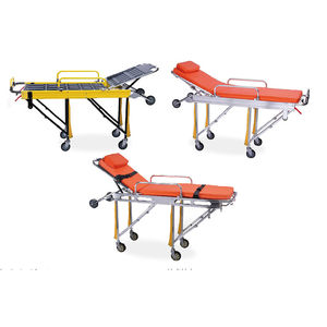 rescue stretcher trolley / manual / folding / automatic