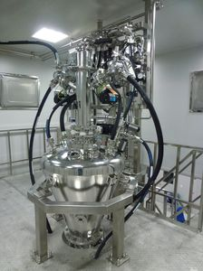 mixer for the pharmaceutical industry / floor-standing / digital / for powders