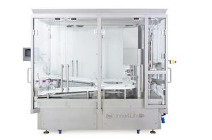 aseptic filling machine / for the pharmaceutical industry / for liquids / powder