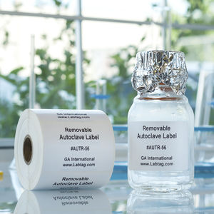 tube label / for flasks / Petri dish / removable