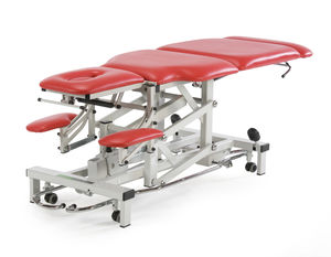 rehabilitation examination couch / electro-hydraulic / height-adjustable / 3-section