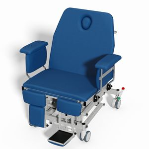 bariatric transfer chair / electric / on casters / height-adjustable