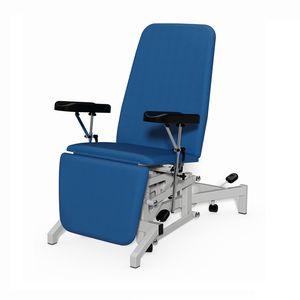 height-adjustable blood collection chair
