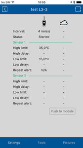 temperature monitoring android application