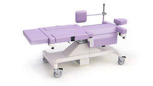 breast biopsy examination table / electric / height-adjustable / on casters
