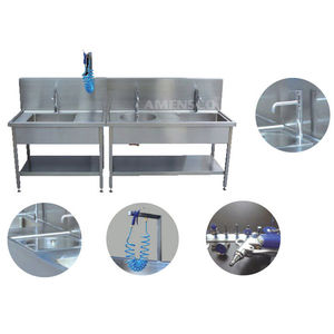 endoscope cleaning station / rinsing / with sink / air-jet