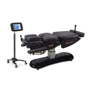 electric chiropractic table / with armrests / with headrest / height-adjustable