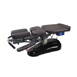 electric chiropractic table / with armrests / with headrest / with double legrests