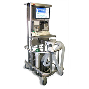 electronic ventilator / anesthesia / veterinary / on casters