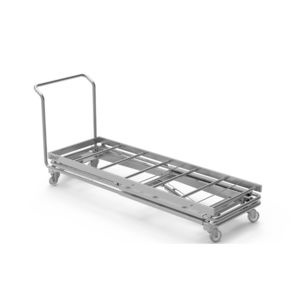 transport stretcher trolley / hydraulic / stainless steel / mortuary