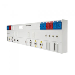 horizontal bed head unit / wall-mounted / with light / for intensive care service