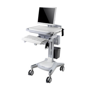 height-adjustable computer cart / modular / wireless