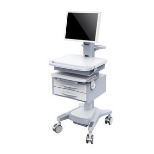 height-adjustable computer cart / with drawer / modular