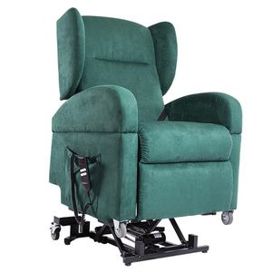 reclining patient chair / on casters / lift / with adjustable backrest