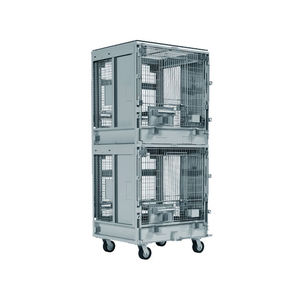 dog animal research cage / modular / two-level