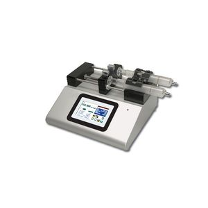 2-channel syringe pump / with touch screen