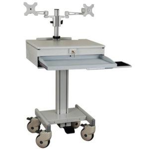 medical computer workstation / laptop / height-adjustable