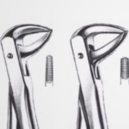 tooth root extraction forceps