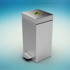 radioactive waste container