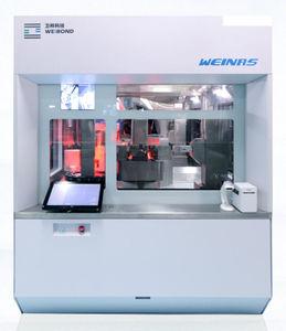 automatic filling machine / continuous / floor-standing / liquid