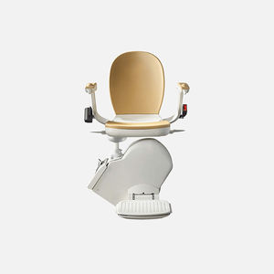 straight staircase stairlift / for humans / folding