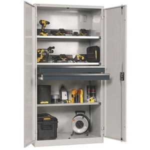 supply cabinet / hospital / with shelf / with hinged door