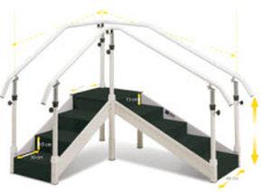 corner rehabilitation staircase