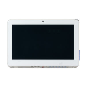 touch screen patient infotainment terminal / with barcode scanner / with card reader