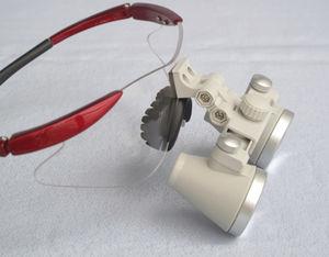 binocular loupe with frames