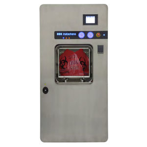 medical waste sterilizer / steam / front-loading / built-in