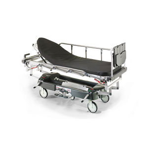 transport stretcher trolley / hydro-pneumatic / height-adjustable / X-ray transparent