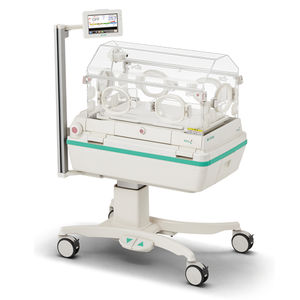 neonatal incubator with monitor / with phototherapy lamp / on casters